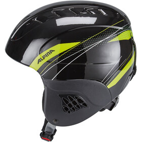 Alpina Carat Casque de ski Enfant, black-green